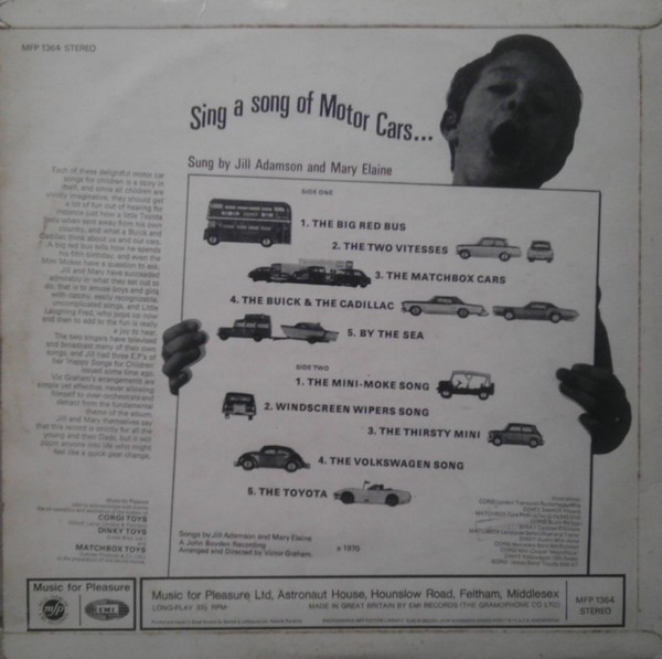 Sing a song of Motor Cars